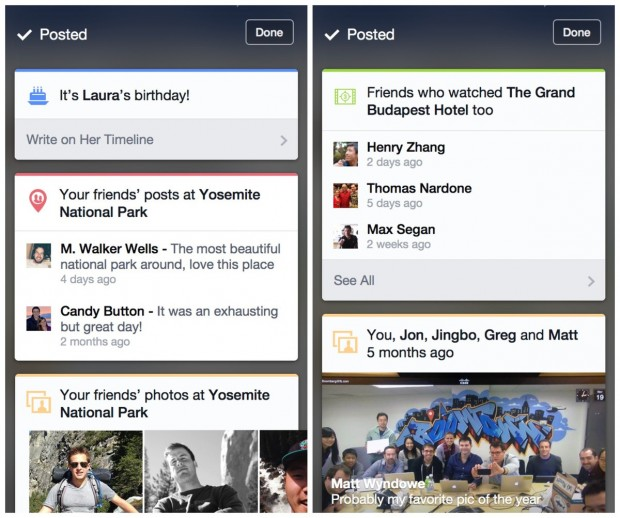 Notifications Facebook Contextuelles