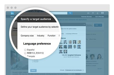 Ciblage Linguistique LinkedIn