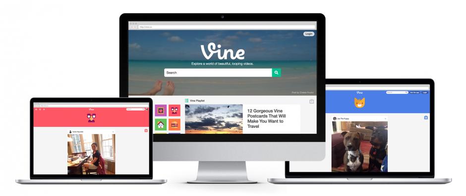 Nouveau des version Web de Vine