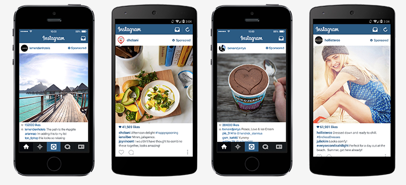 Exemples de pub Instagram